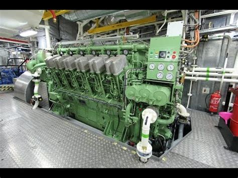 tug boat engine sound abc v12 diesel engine startup tugboat 7200hp youtube