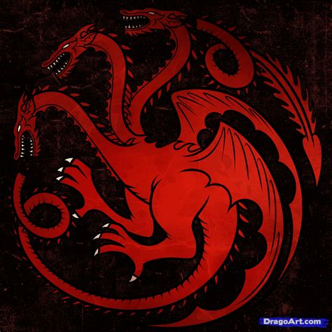 haus targaryen how to draw house targaryen house targaryen step