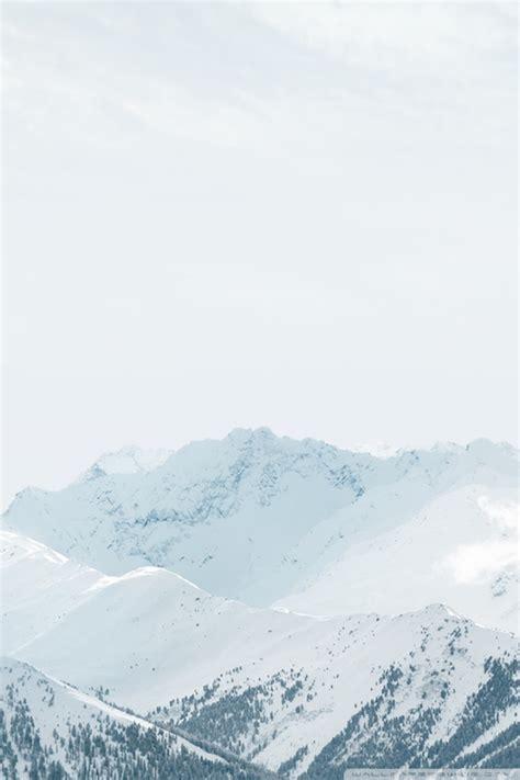 apple ios snow mountains  hd desktop wallpaper