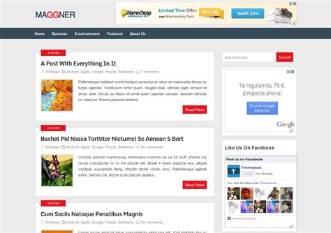 html themes like facebook best wordpress converted free blogger templates of 2013