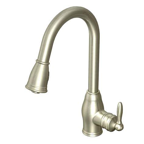 glacier bay single handle kitchen faucet glacier bay newbury single handle pull down sprayer