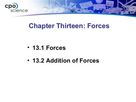 chapter 13 section 2 ch13 forcessection2