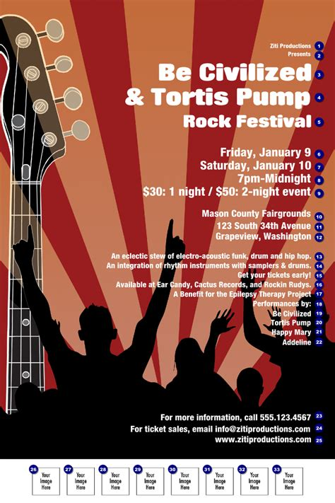templates for music posters rock concert poster ticketprinting com