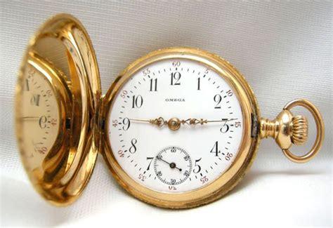 vintage gold omega pocket 14k