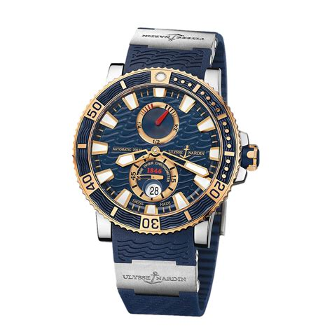 Ulysse Nardin Marine Diver Silver Black Leather For Automatic ulysse nardin marine diver 265 90 3t 93 titanium gold world s best
