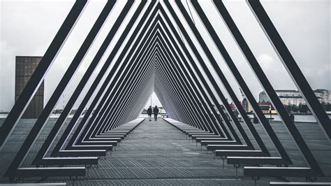 wallpaper architecture triangle structure people