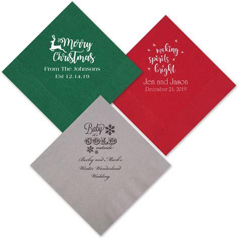 items similar to custom printed napkin for christmas custom printed 3 ply paper christmas cocktail party napkins