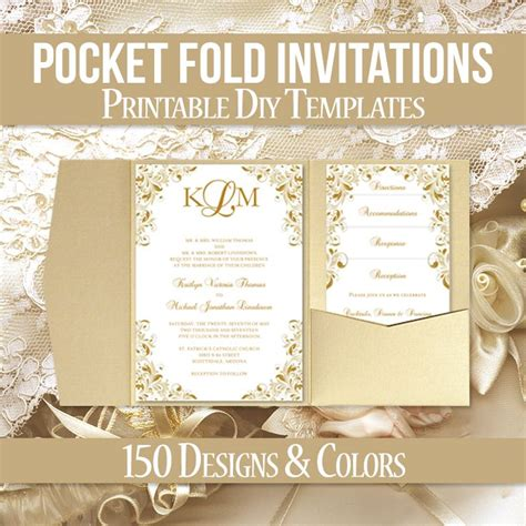 Pocket Wedding Invitations Template by 117 Best Pocketfold Wedding Invitations Diy Printable