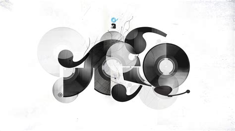 black and white vinyl wallpaper 1366x768 abstract view wallpaper music and dance wallpapers