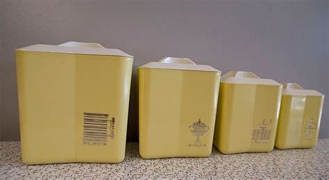 yellow kitchen canister set 42 best vintage canisters images on vintage canisters canister sets and vintage kitchen