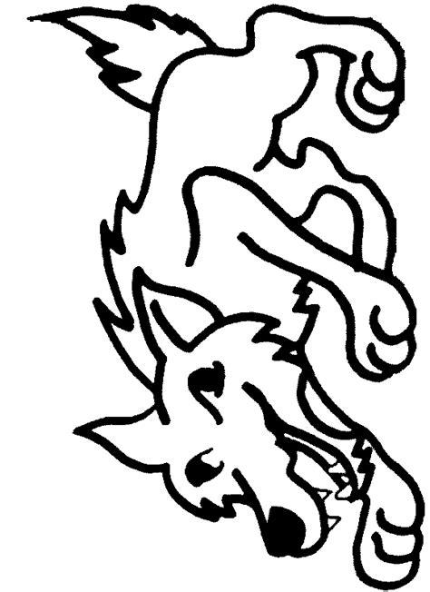 loup colorier imprimer
