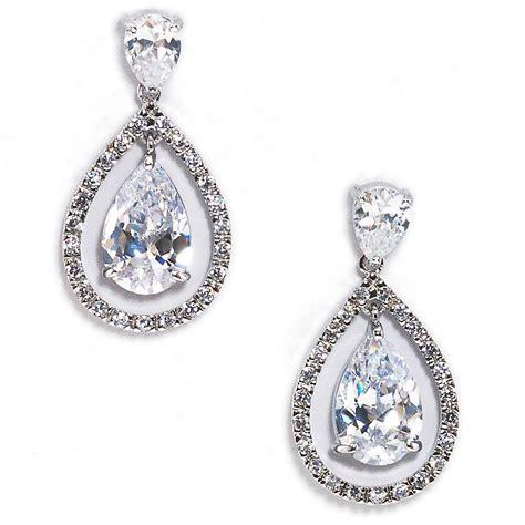 regan pear shaped bridal drop earring