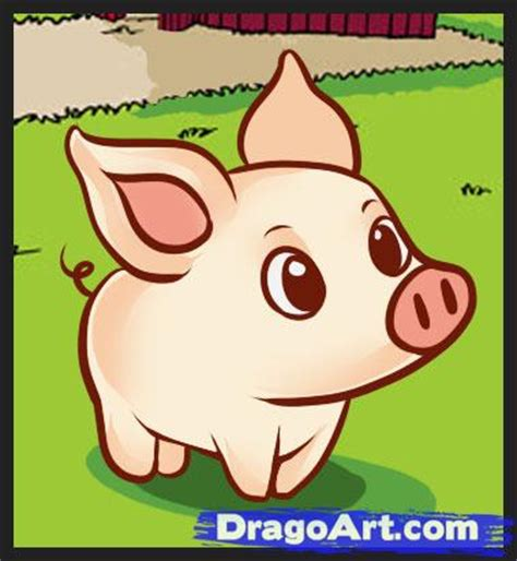 how to a pig how to draw a simple pig step by step farm animals animals free drawing