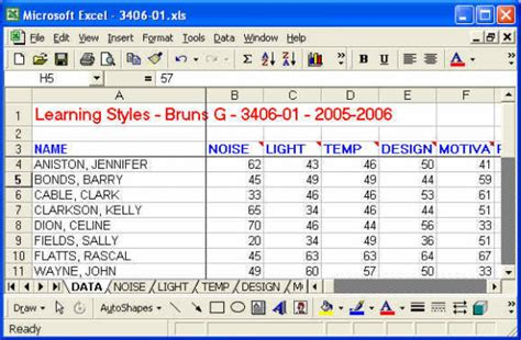 Learning Excel Spreadsheets by Tutorial1 Dot Garman S Elearning Portfolio
