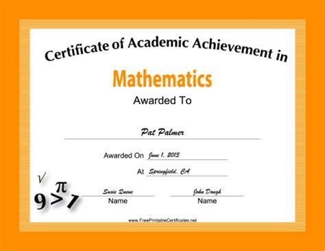 this penmanship achievement certificate features a pen and pencil