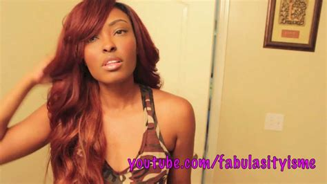 deep part bang how to reddish brown wig with a deep side swoop bang
