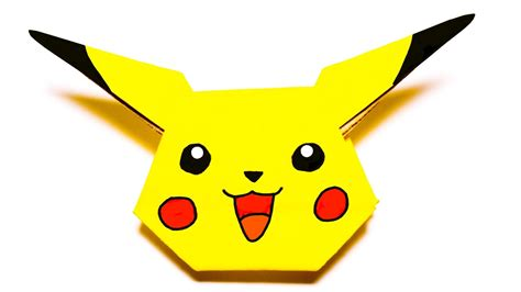 How To Make A Pikachu Origami - origami pikachu easy origami tutorial origami