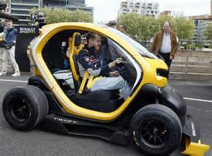 Renault F1 Twizy Sebastian Vettel Drives A Renault F1 Twizy On A Visit To