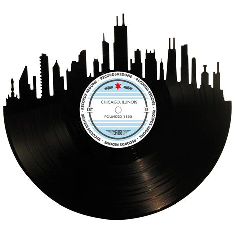 Records Chicago Chicago Skyline Records Redone Label Vinyl Record