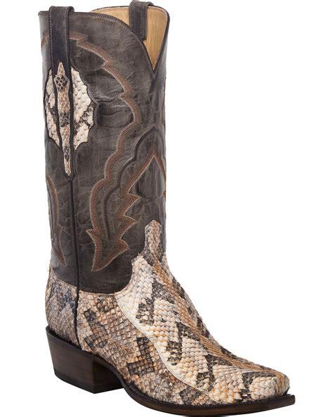 rattlesnake boots lucchese s handmade jackson canebrake rattlesnake