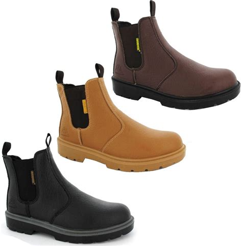 chelsea work boots for mens black brown dealer chelsea work safety steel toe