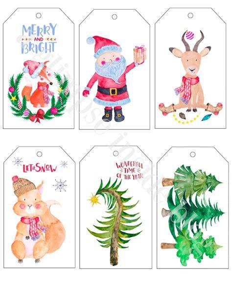 a glimpse inside printable christmas gift tags