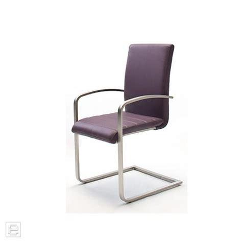 schwingstuhl mit armlehne esszimmer top 2x schwingstuhl leder violett armlehne freischwinger