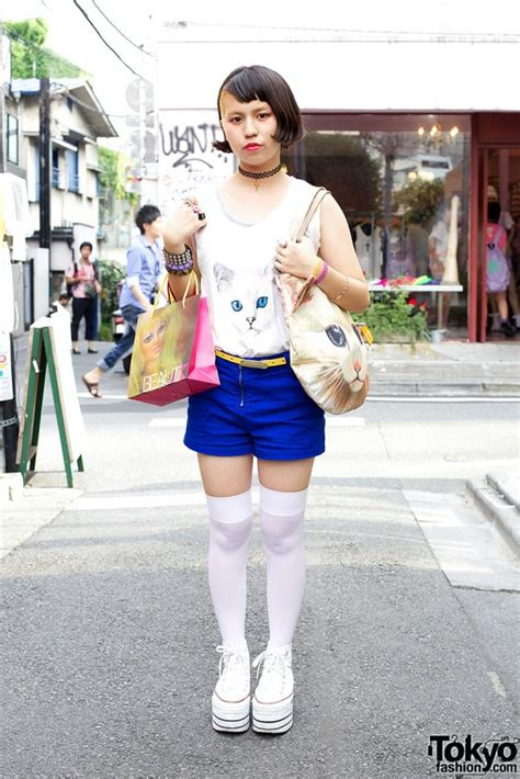 Cpkj07 Celana Pendek Katun Jepang Motif Lucu Shorts Pant totalitas gaya harajuku j cul