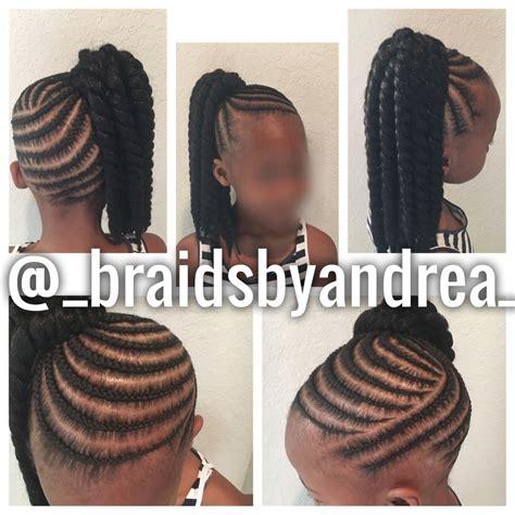 crochet hairstyles in ponytails kids ponytail crochet twists little girls pinterest