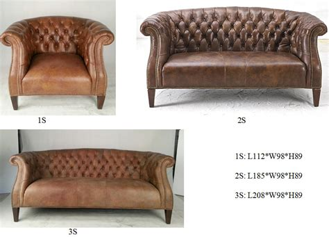 American Style Retro Seattle Vintage Sofa Set In Cow Vintage Style Leather Sofa