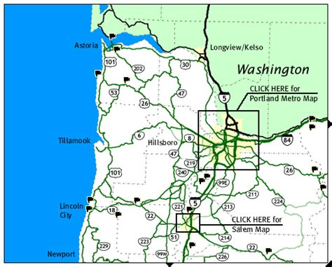 oregon road conditions map northwest oregon road and traffic cams