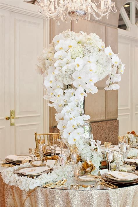 orchids wedding centerpieces trailing stunning centerpiece in white orchids wedding centerpieces