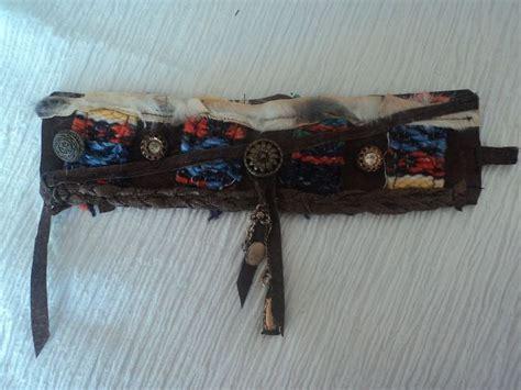 Handmade Cuffs - handmade leather cuff bracelet hippie boho vintage