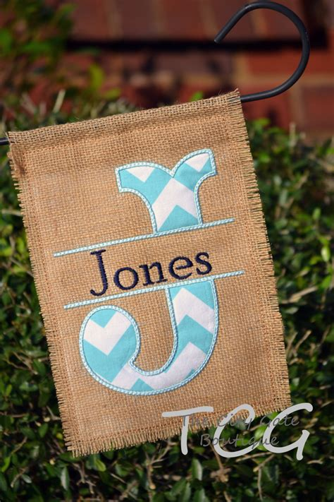 Garden Flags by Personalized Chevron Burlap Garden Flag By Thecitygate On Etsy
