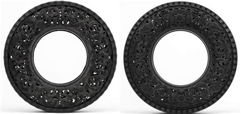 rubber st artwork don t burn rubber carved recycled tire urbanist