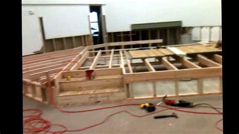 working  building  churchs platform youtube