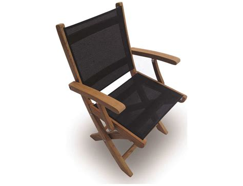teak sling chair royal teak collection sailmate black sling folding dining
