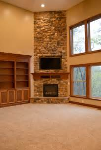 Fieldstone Barn Floor To Ceiling Corner Stone Fireplace Diy Projects To