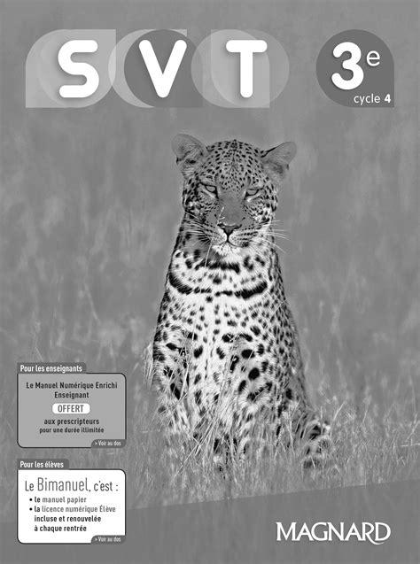 SVT 3e (2017) - Livre du professeur   Magnard Enseignants
