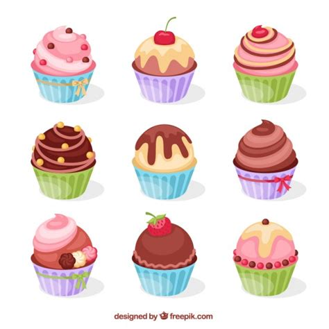 colorful cupcakes colorful cupcakes vector free