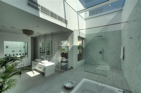 dubai bathrooms glass shower skylight bathroom the reserve luxury