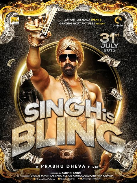 biography of film singh is bling singh is bling new posters for akshay and prabhu deva s