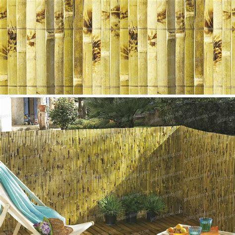 canisse en bambou 7198 canisse en bambou yangtse 1mx3m occultation cloture et