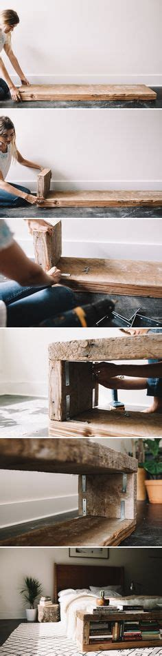 diy reclaimed wood bench 1000 ideas about diy wood on pinterest log projects