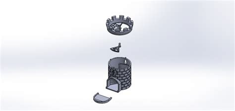 printable dice tower 3d printed dice tower with secret chamber for dice storage