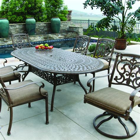 Darlee Santa Barbara 7 Piece Cast Aluminum Patio Dining
