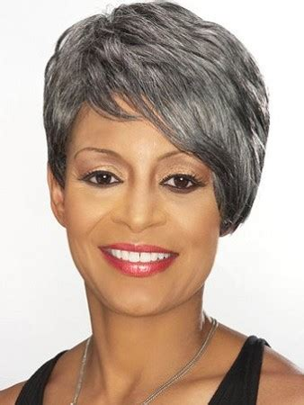 sweety short wavy gray african american lace wigs for women 6 inch wigs pinterest short fashonlacewigsale com graceful short curly gray african