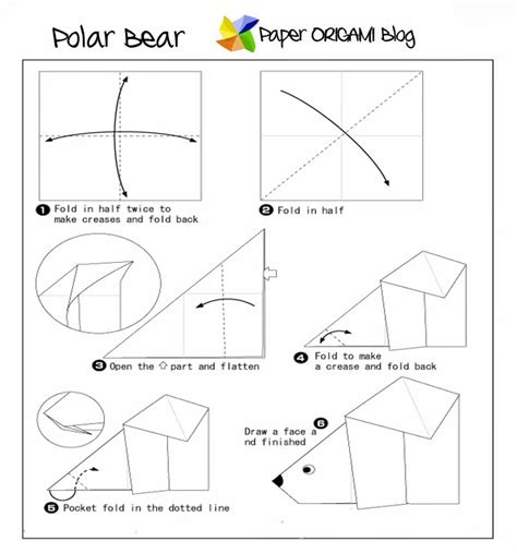 How To Make A Paper Polar - animals origami polar paper origami guide