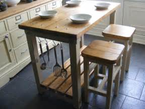 Rustic Kitchen Island With Stools by Rustic Kitchen Island Breakfast Bar Work Bench Butchers