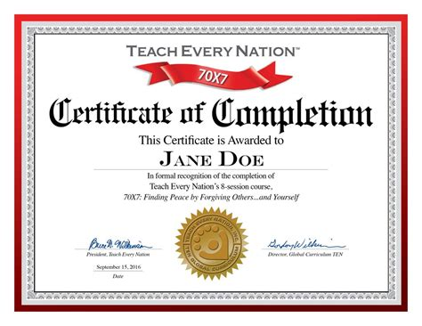 certificate of completion word template free igotz org download job